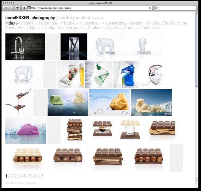 berndebsen.com Relaunch: photography index