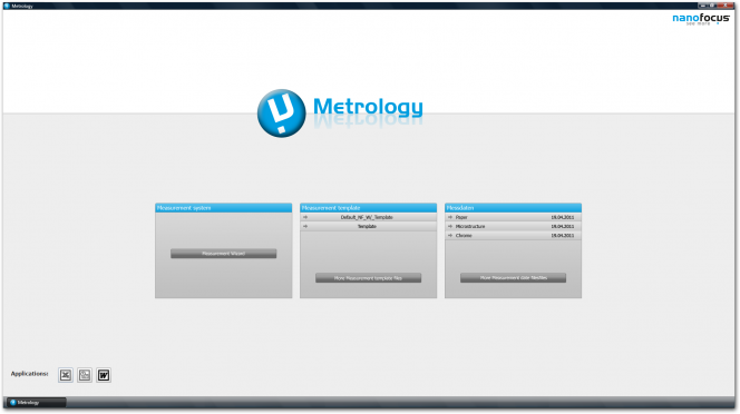 µsoft metrology: Launcher