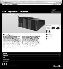 Projektdetails: dbaudio.com Relaunch