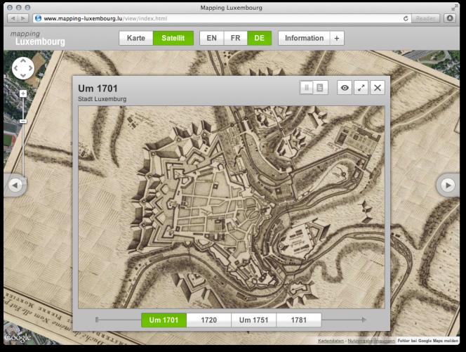 mapping-luxembourg.lu: Kartenansicht