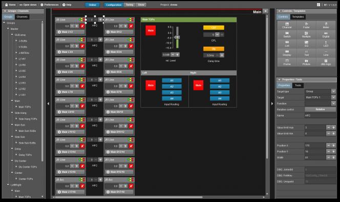 R1 Remote control software v2: Groups