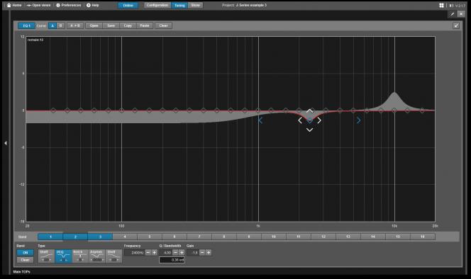 R1 Remote control software v2: EQ Detail