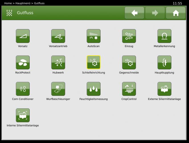 BiG X Display: Auswahlscreen