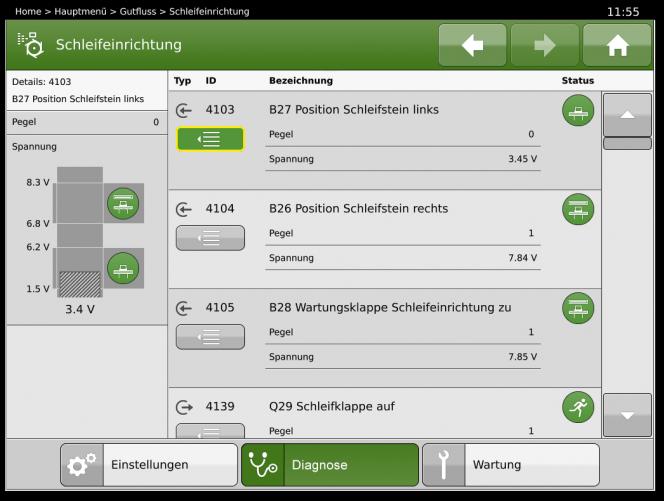 BiG X Display: Detailscreen Diagnose